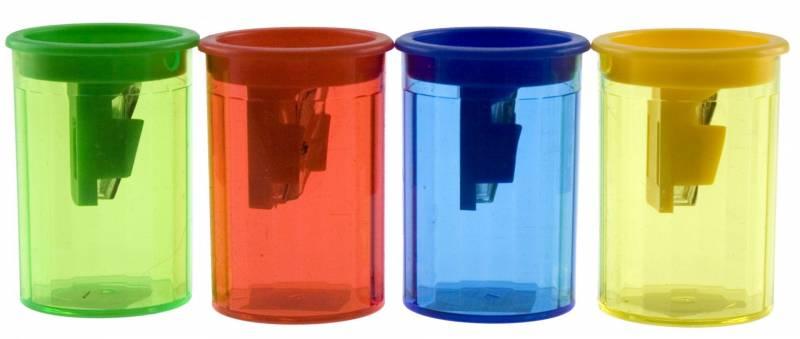 Billede af Blyantspidser med beholder transparent m/farvet top