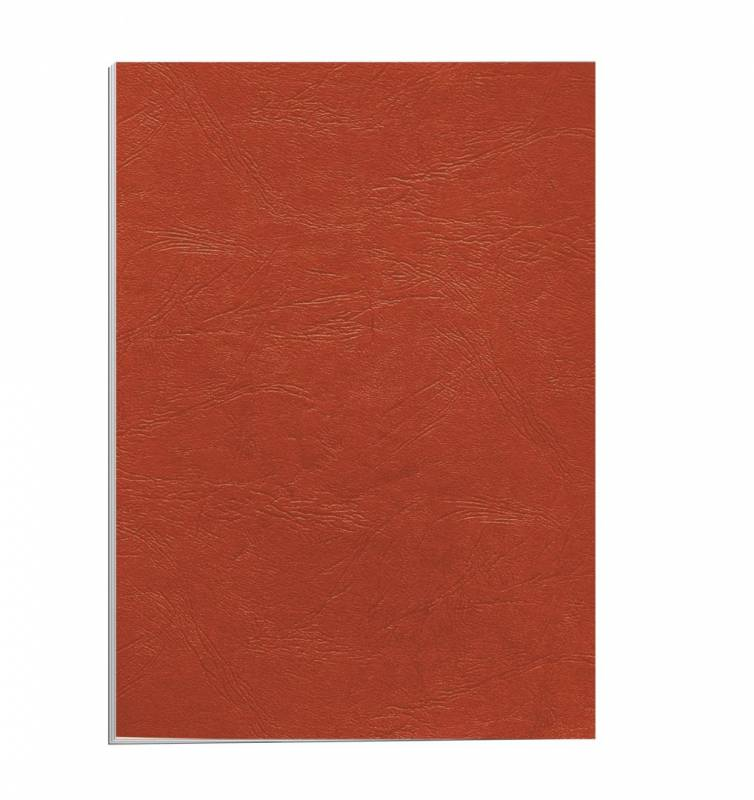 Image of   Kartonomslag Fellowes rød 250g A4 genbrug 100stk/pak
