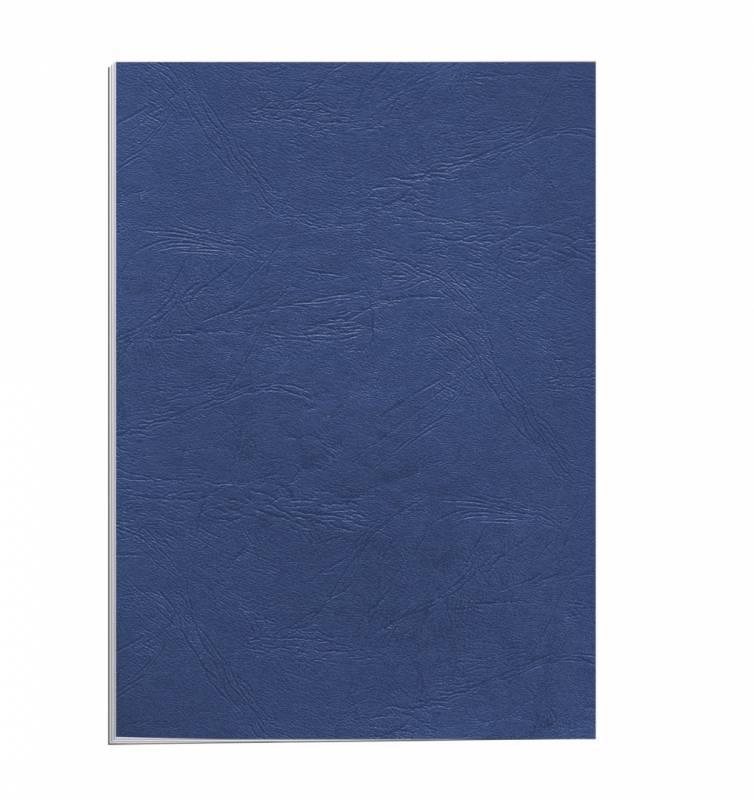 Image of   Kartonomslag Fellowes blå 250g A4 genbrug 100stk/pak