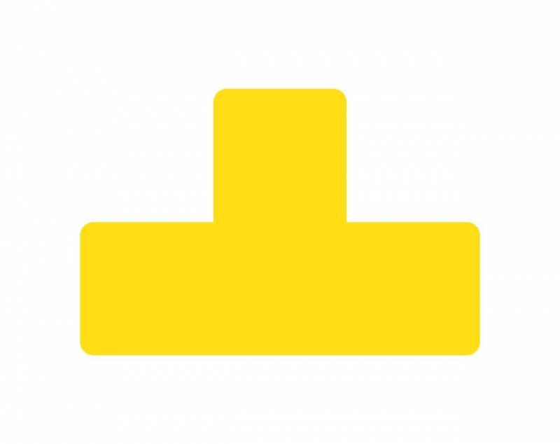 Image of   Gulvmærker T form gul bredde 50mm 10stk/pak