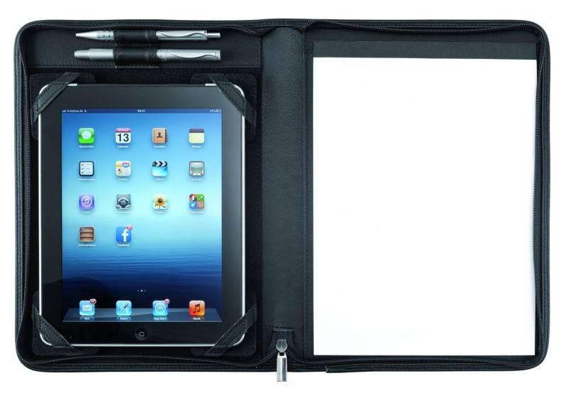 Image of   Dokumentmappe Eurostyle sort til tablets kunstlæder A4