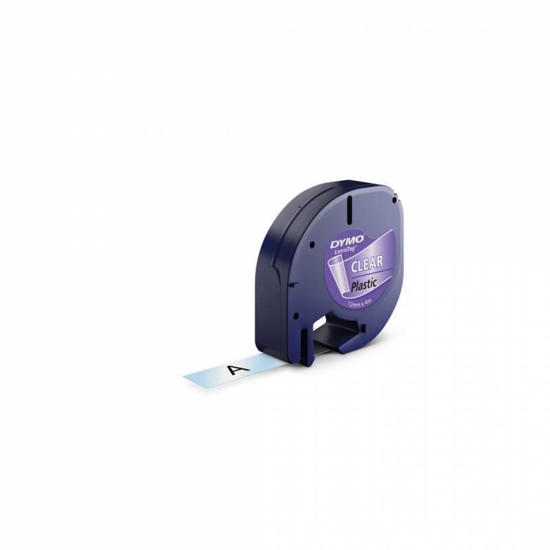 Billede af Labeltape DYMO LetraTAG 12mmx4m klar plasttape