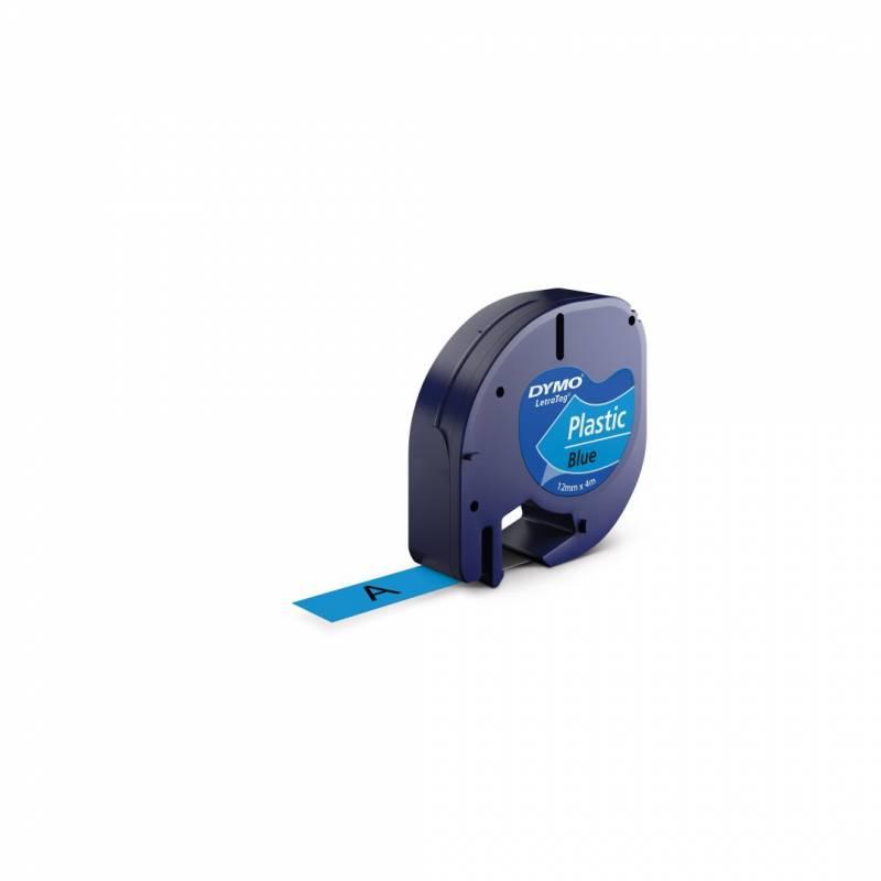 Billede af Labeltape DYMO LetraTAG 12mmx4m blå plasttape