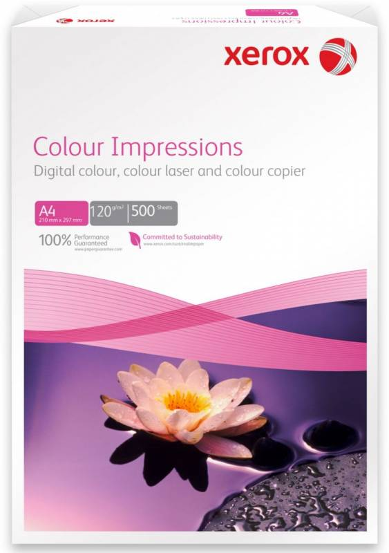 Image of   Kopipapir Xerox Colour Impressions 120g A4 500ark/pak