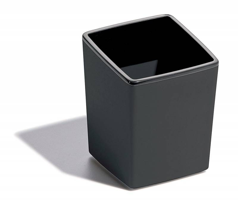 Image of   Affaldsbeholder COFFEE POINT Bin/ penneholder mørkgrå/sort