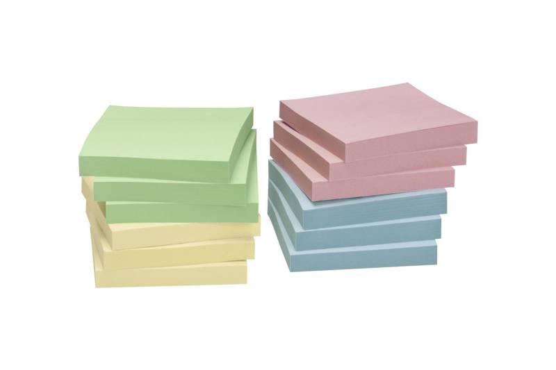 Image of   Notes Nature pastel mix 75x75mm 12blk/pak