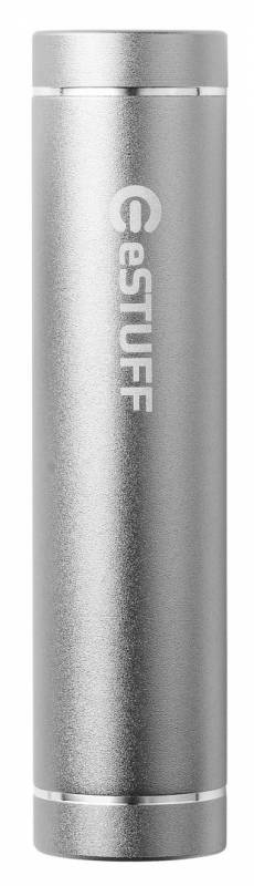 Image of   Powerbank eSTUFF sølv 2.200mAh