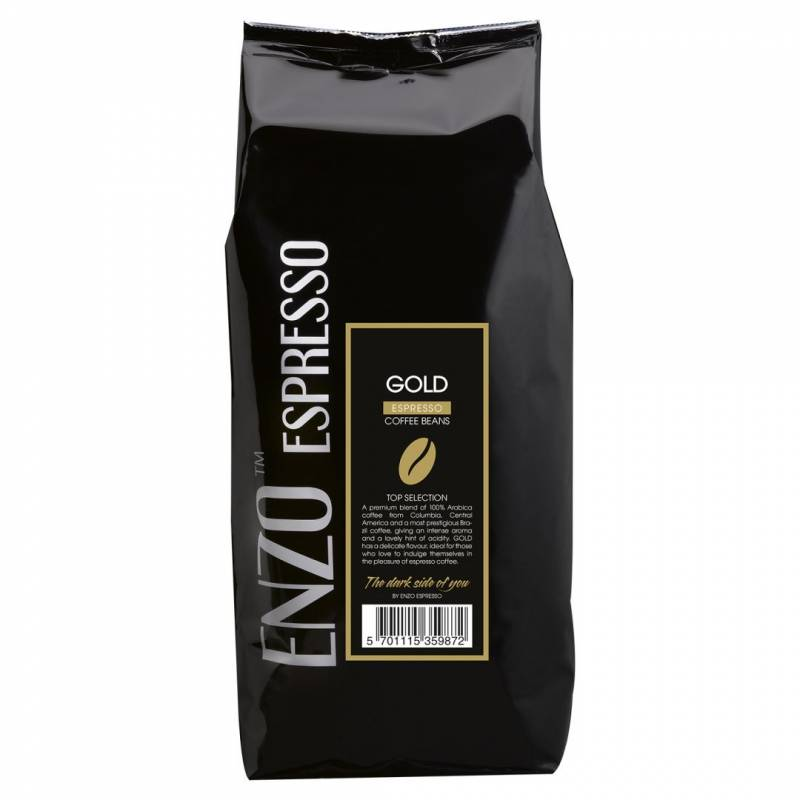 Espresso Black Coffee Roasters Gold hele bønner Rainfores 1kg/ps