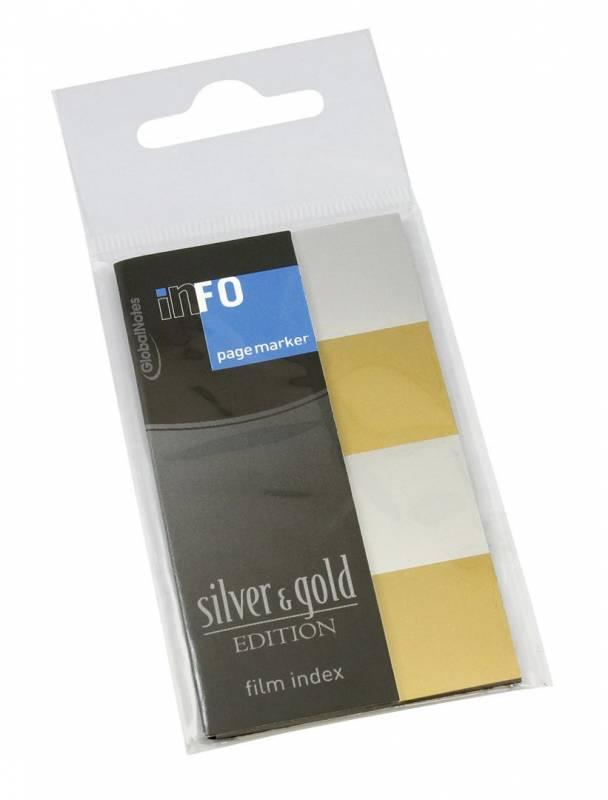 Billede af Indexfaner Info silver&gold 20x42,5mm 4x25stk/pak