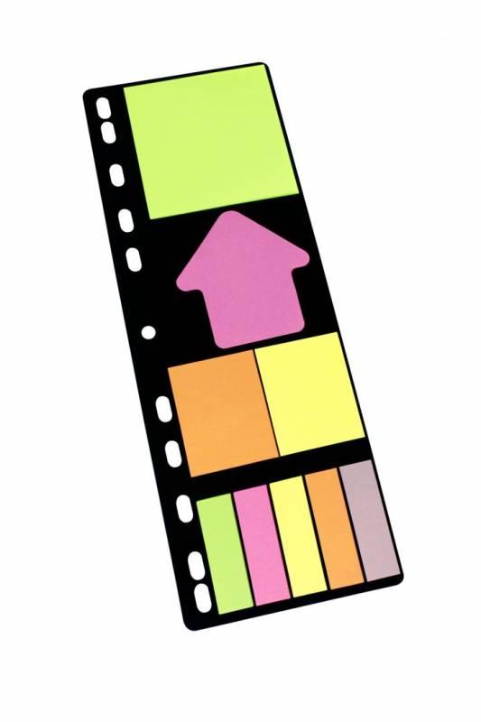 Billede af Indexfaner Info Sticky Notes Folder Set 9x25stk/pak