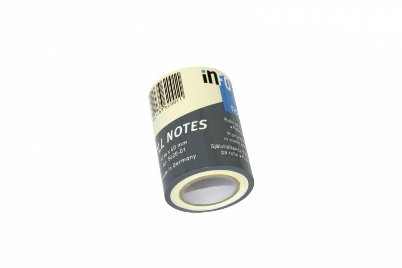 Image of   Refill notes Info t/notesdisp. gul 60mmx10m/stk