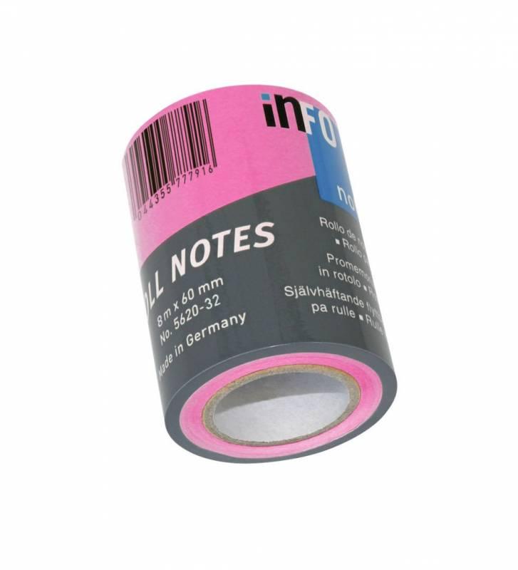 Image of   Refill notes Info t/notesdisp. brlliant rosa 60mmx10m/stk