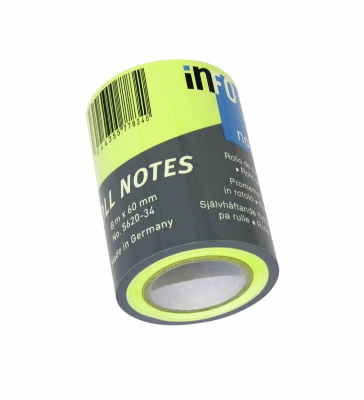 Image of   Refill notes Info t/notesdisp. brlliant grøn 60mmx10m/stk