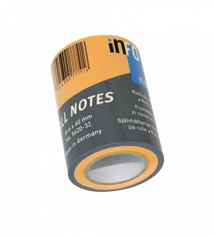 Image of   Refill notes Info t/notesdisp. brlliant orange 60mmx10m/stk