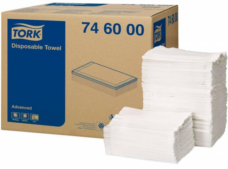 Billede af Håndklædeark Tork Advanced H3 5-lags 746000 250ark/kar