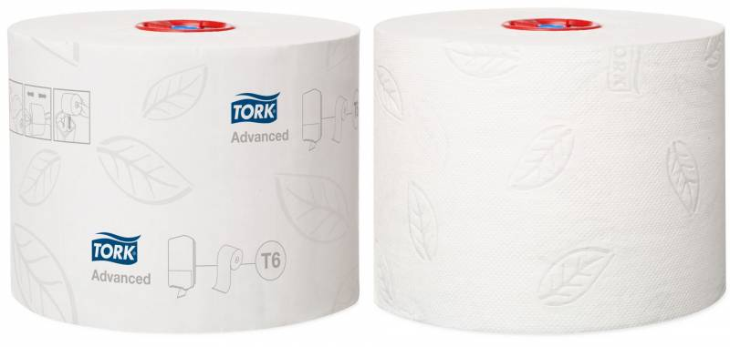 Image of   Toiletpapir Tork Mid-Size Advanced T6 2-lags 100m 127530 27rul