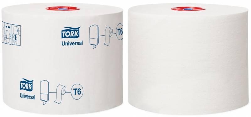 Image of   Toiletpapir Tork Mid-Size Universal T6 1-lags 135m 127540 27rul/kar
