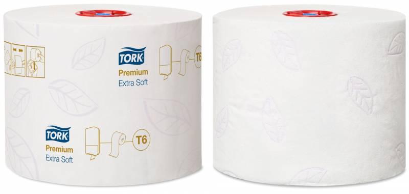 Image of   Toiletpapir Tork Mid-Size T6 Prem ES 3-lags 70m 127510 27rl