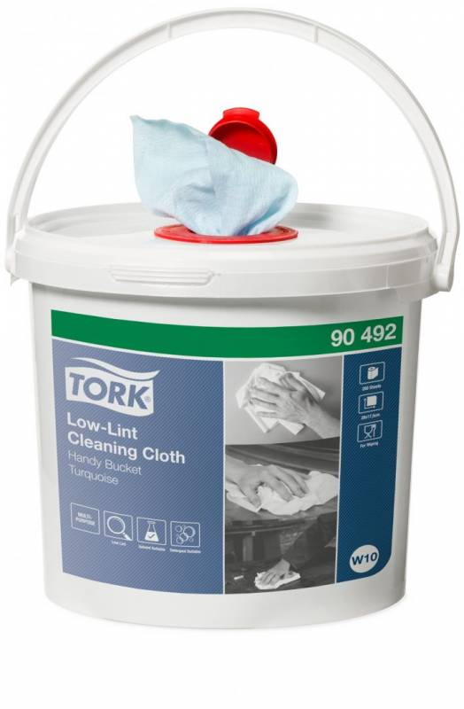 Image of   Aftørringsklud Tork Sensitiv W10 Cleaning turkis 4sp/kar