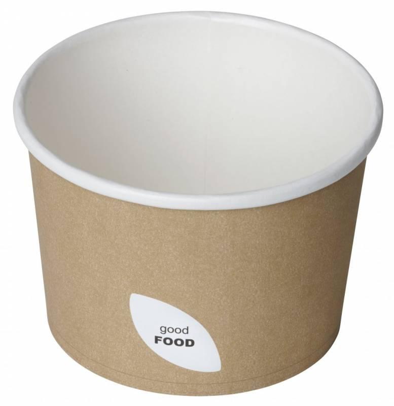 Suppebæger PLA 550ml brun 500stk/kar