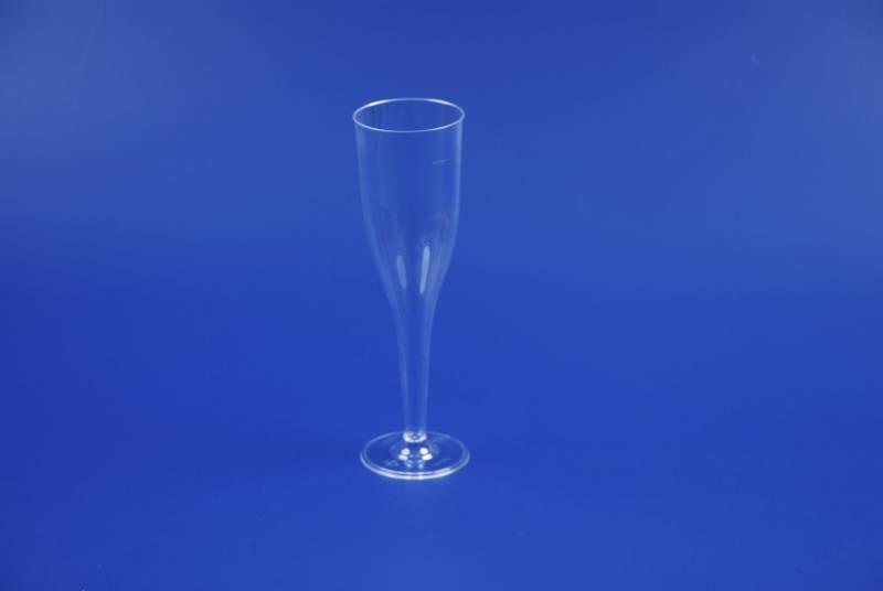 Plastikglas champagne på fod 13,5cl 001470 10stk/ps