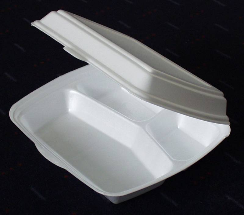 Skumbakke hvid 3-rums m/låg 240x195x75mm 250stk/pak