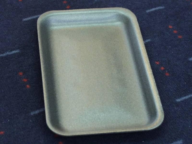 Skumbakke sort 218x135x17mm 900stk/pak