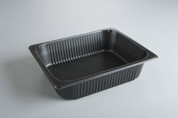 Plastbakke 1/2GN extra høj PP P2325-80 sort 4895ml 92stk/kar