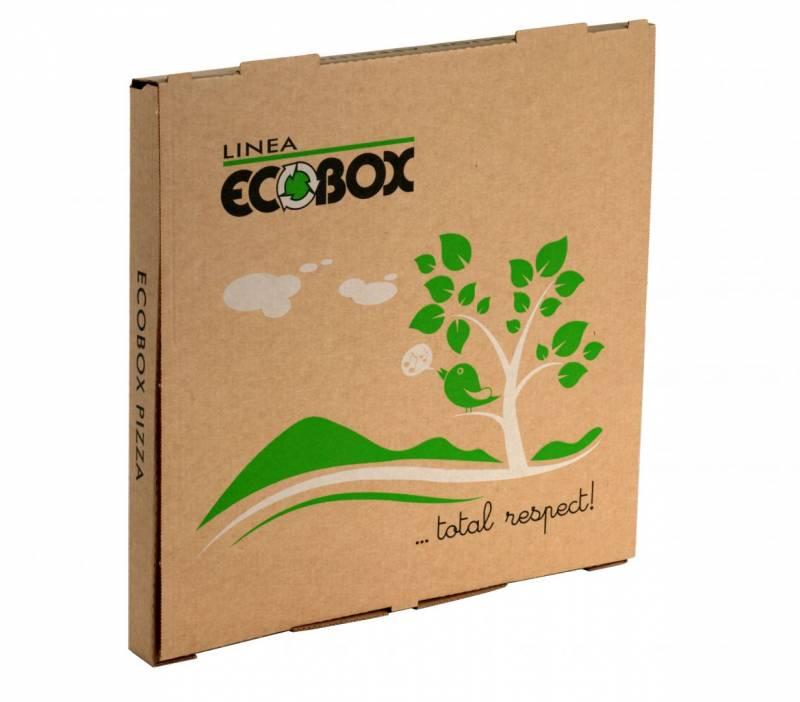 Image of   Pizzaæske Eco - box brun 32x32x3cm 100stk/pak