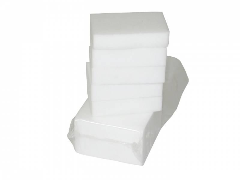 Svamp melamin hvid 11x7cm 100stk/kar