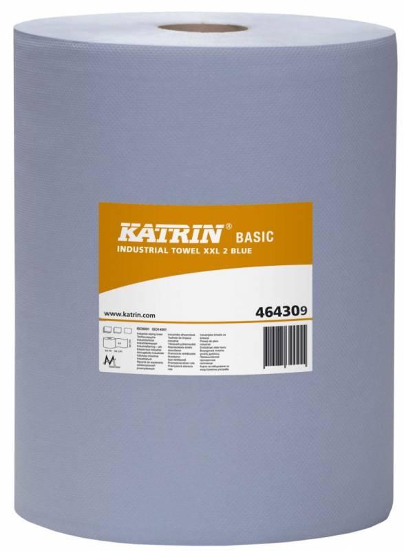 Aftørringspapir Katrin B XXL2 2-lag 38cmx360m blå 2rl 464309