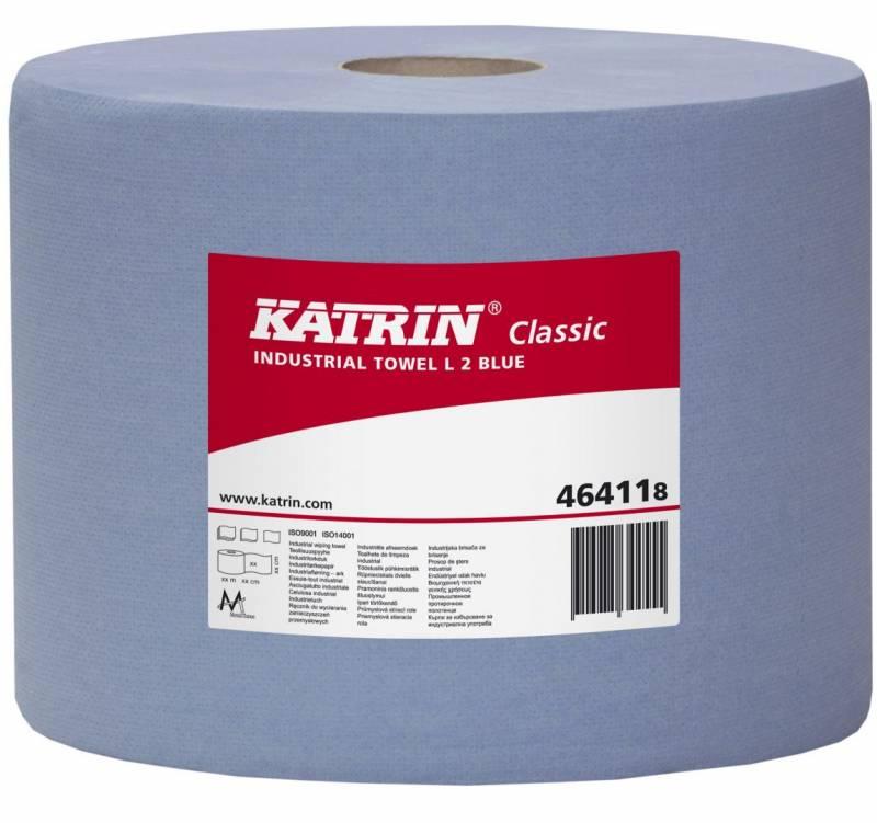 Billede af Aftørringspapir Katrin C L2 2-lag 22cmx380m blå 2rl 464118