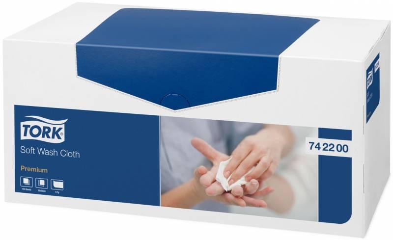 Billede af Vaskeklud Tork premium soft 8 box af 135 klude / kart