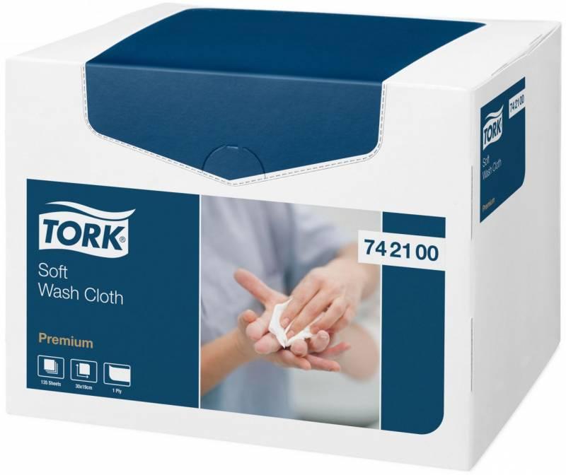 Billede af Vaskeklud Tork premium soft 8 box af 135 klude/kar