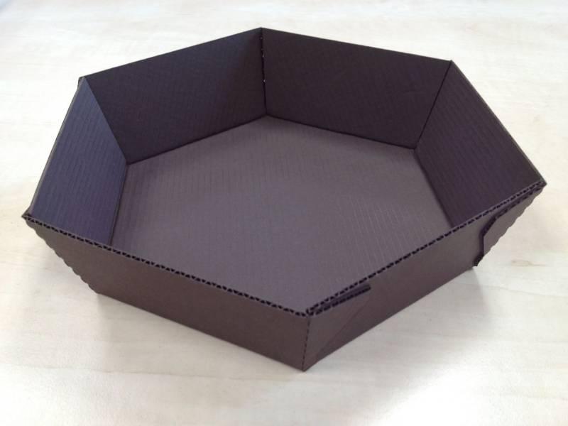 Bageform sekskantet t/ovn 158x50mm 240stk/pak brun