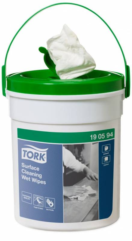 Image of   Wet Wipe Tork t/overflader spand Handy Bucket 4sp/kar 190594