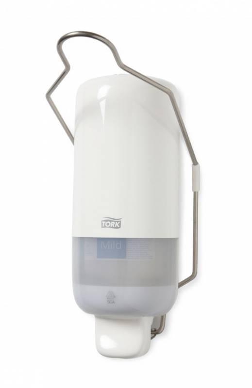 Image of   Dispenser Tork sæbe S1 hvid plast 1l med albuegreb 560100