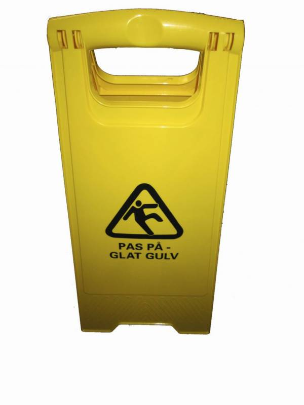 Image of   Advarselsskilt med piktogram Pas på - glat gulv gult