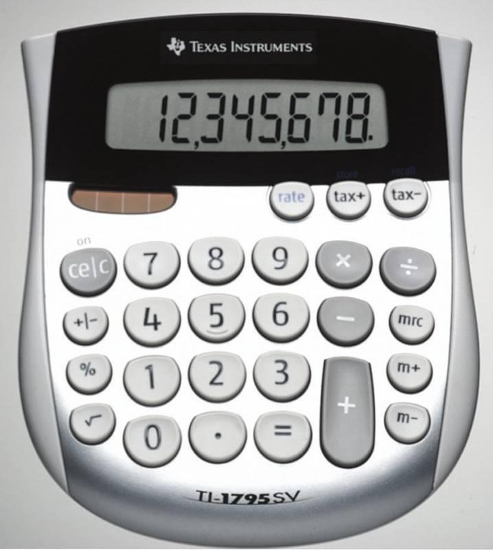 Billede af Lommeregner Texas TI 1795SV 8 cifret display-skråtstillet