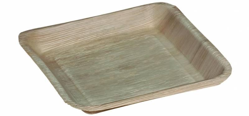 Billede af Palmeblad tallerken 24x24cm 100stk/pak