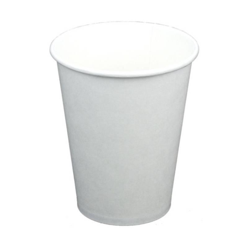 Image of   Kaffebæger bionedbrydelig 12oz hvid 1000stk/kar