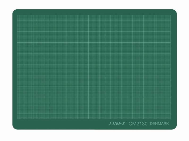 Skæreplade grøn 3mm plast 210x300mm