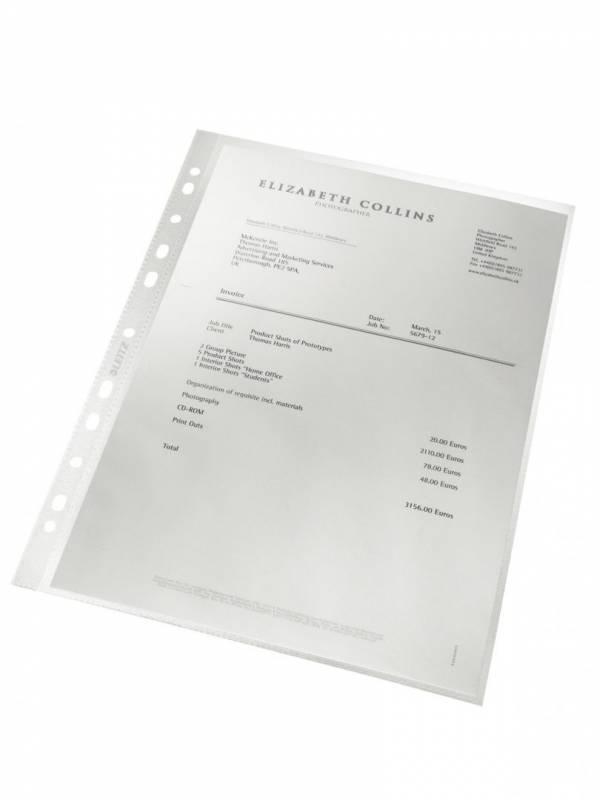 Billede af Plastlomme Leitz A4 0,09mm præg 100stk/pak