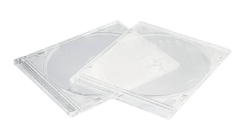 Billede af CD/DVD-omslag Esselte smal slimline transp. 5stk/pak