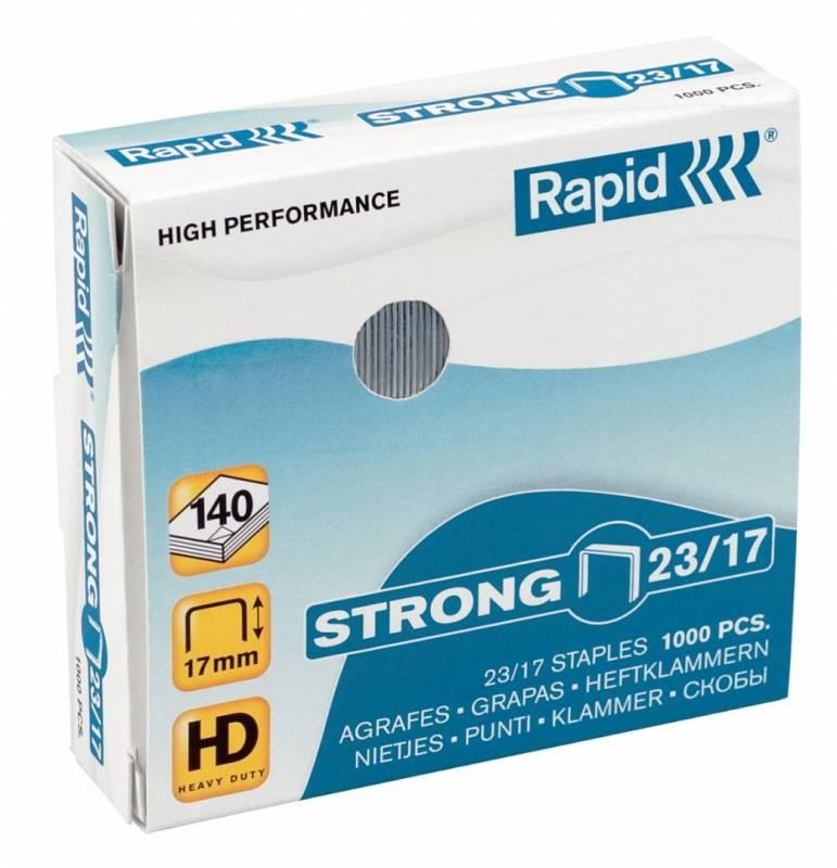 Billede af Hæfteklammer Rapid 23/17 Strong blokhæfter 1000stk/pak