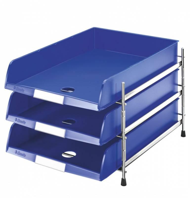Image of   Brevbakkesæt Esselte C4 m/3 bakker blå