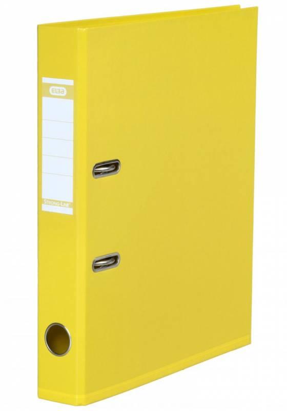 Billede af Brevordner PP gul A4-smal Bantex miljø 1415-23