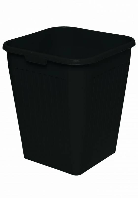 Papirkurv Orth 25 L firkantet plast sort
