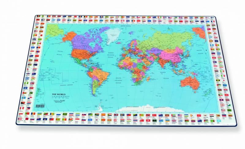 Billede af Skriveunderlag Verden 40x65 cm